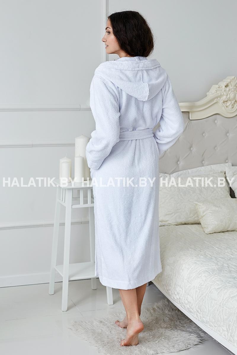 Халат махровый женский Liliya белый