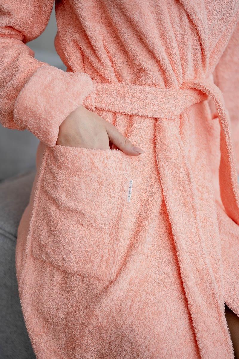 Махровый халат OLIVIA peach