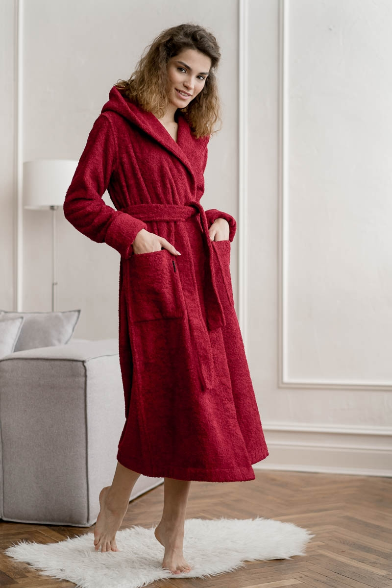 Махровый халат OLIVIA jester red