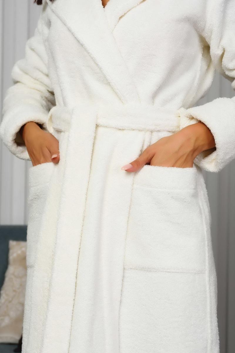Махровый женский халат OLIVIA cream