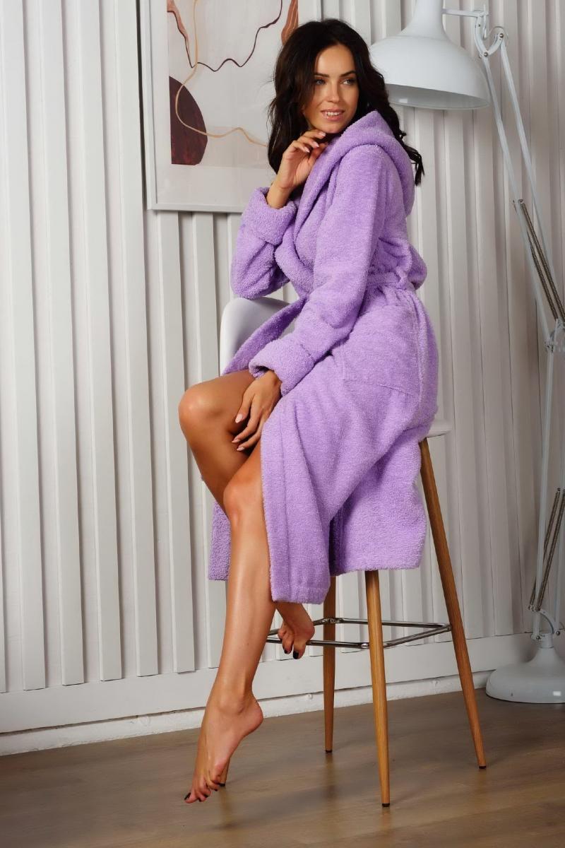 Махровый халат OLIVIA lavende