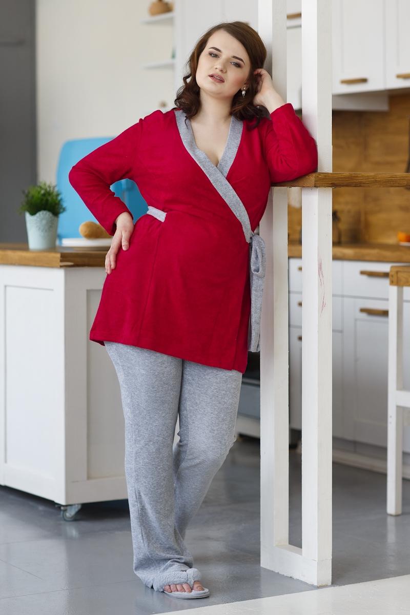 Женский домашний костюм бордо