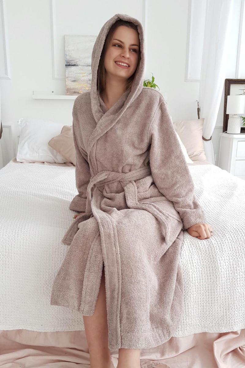 Махровый халат Liliya мокко