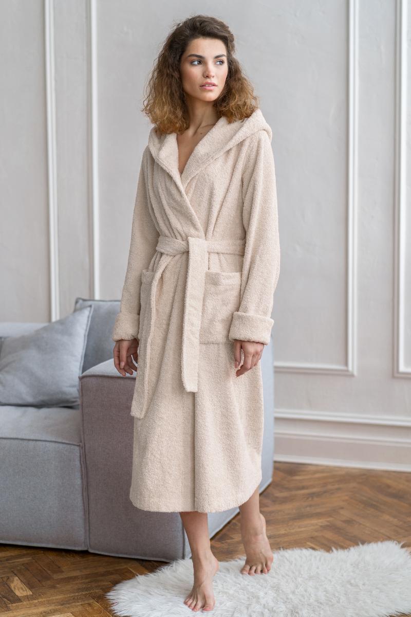 Махровый халат OLIVIA beige