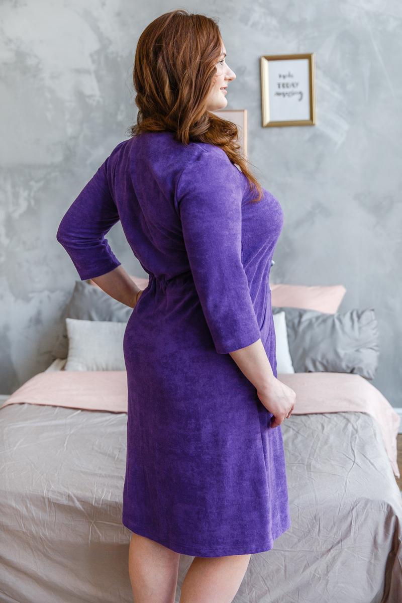 Домашний халат на молнии Жасмин фиолетовый