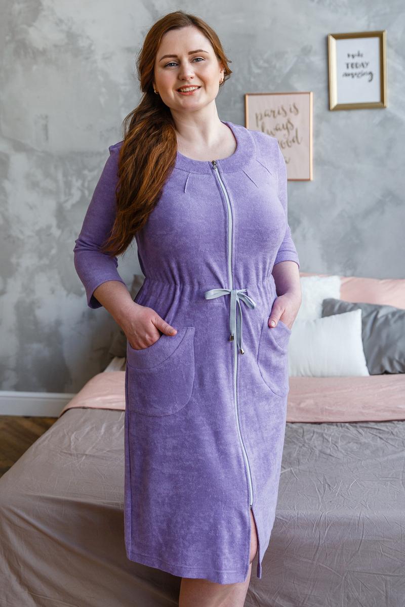 Домашний халат Жасмин сиреневый