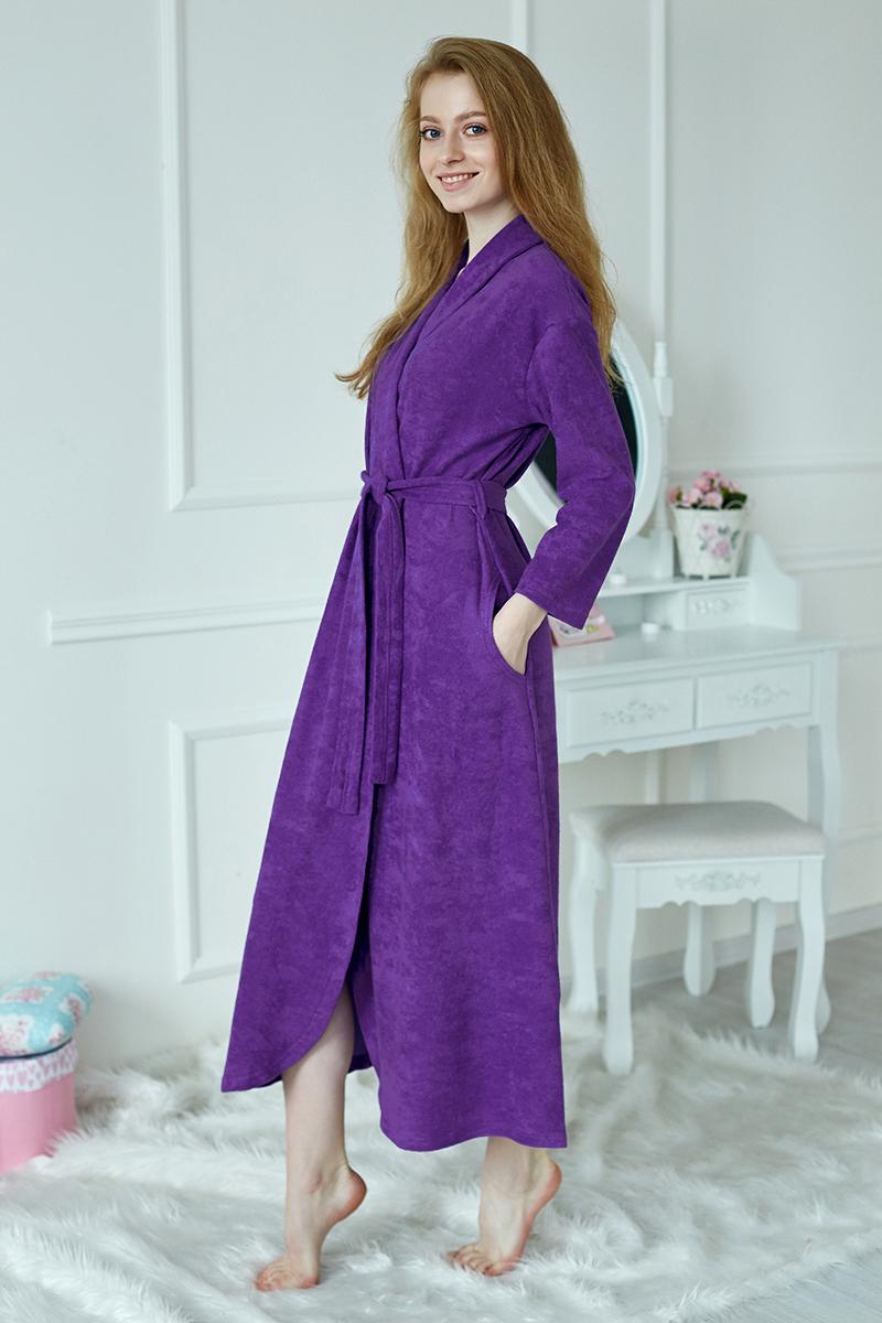 Халат женский Кармен фиолетовый
