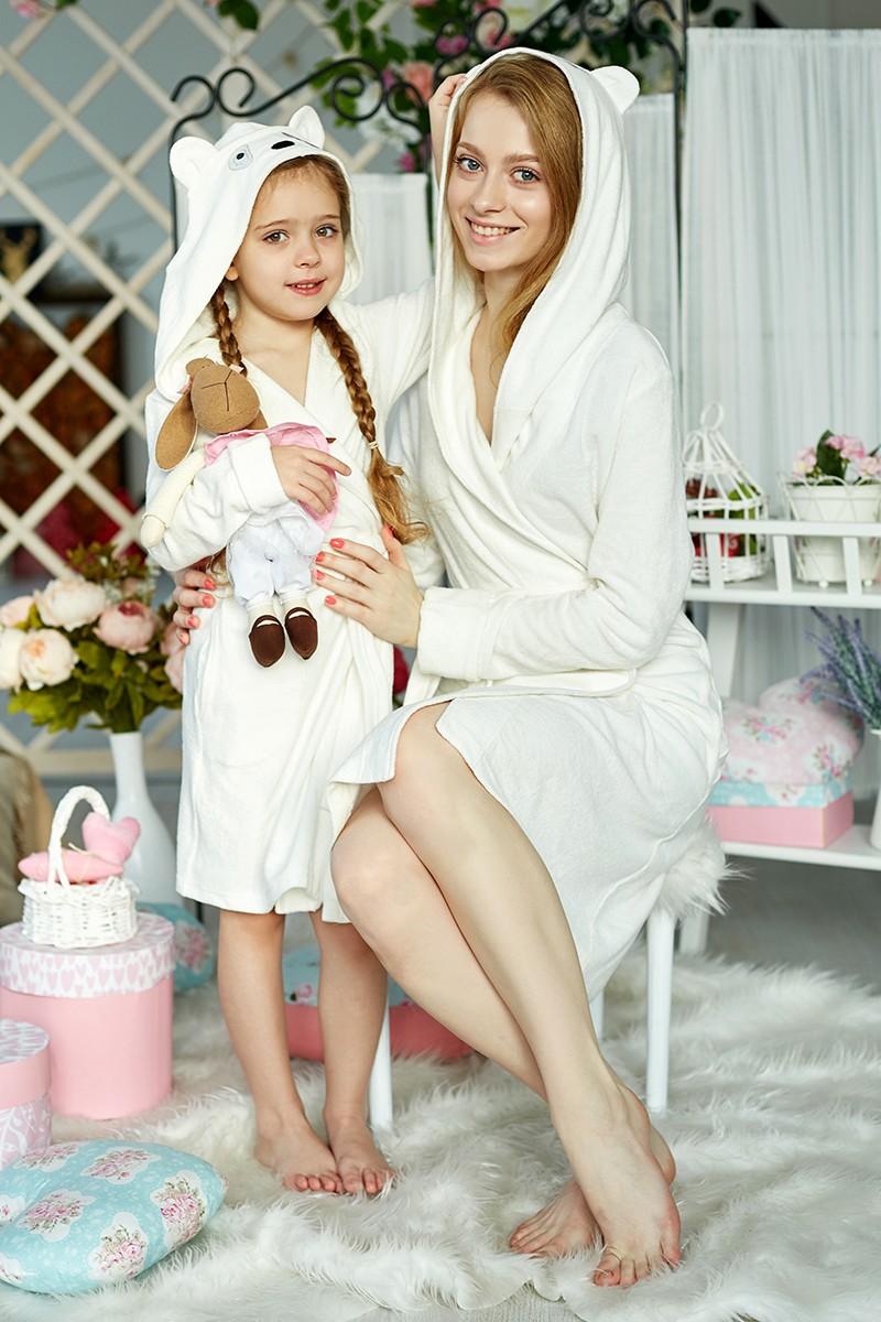 Халатики мама с дочкой молоко
