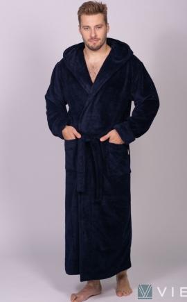 Magistr мужской халат из бамбука синий