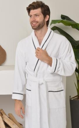 DANIEL (белый) мужской халат