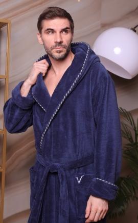 Бамбуковый мужской халат Zevs деним
