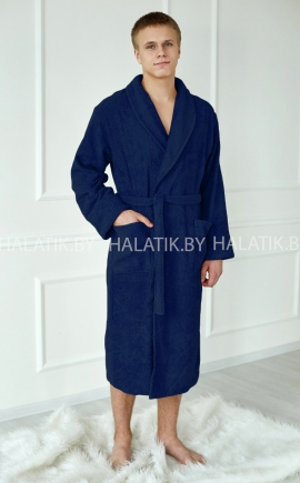 Банный халат ALEJANDRO синий