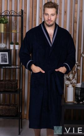 Бамбуковый халат Baron синий