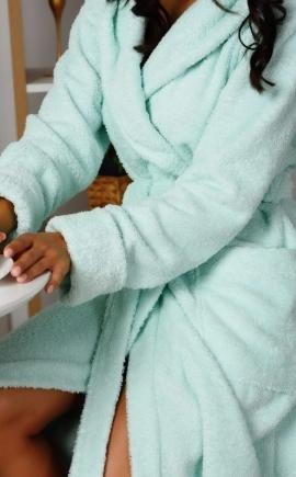 Махровый халат OLIVIA light mint