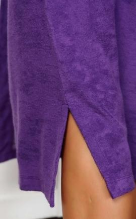 Халат женский с запахом Луиза фиолетовый