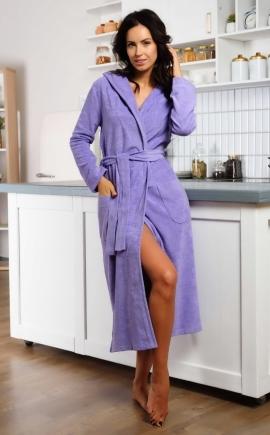 Красивый женский халат Луиза сиреневый