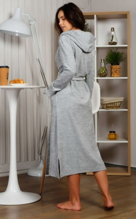 "Домашний халат ""Луиза"" серый меланж"