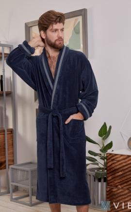 Бамбуковый  халат BARON (Джинс)