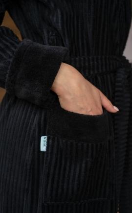 Халат женский ANNA (Black)